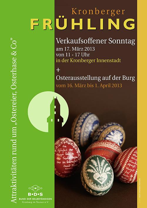 Design Banner und Plakat Kronberger Frühling - © www.grabo-kronberg.de